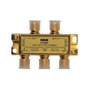 RCA® DH44SPR 2.4 GHz 4 Way Bi-Directional Signal Splitter, Gold