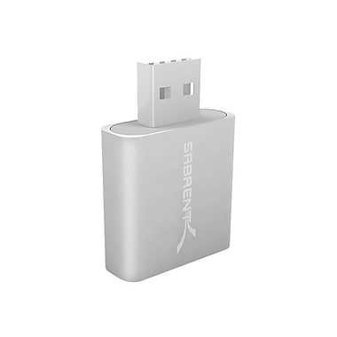 Sabrent USB 2.0 External Stereo Sound Adapter, Silver