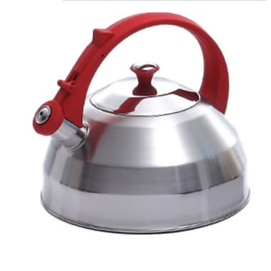 Creative Home Steppes 2.8-qt. Whistle Tea Kettle; Red