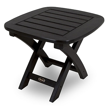 Trex Yacht Club Side Table; Charcoal Black