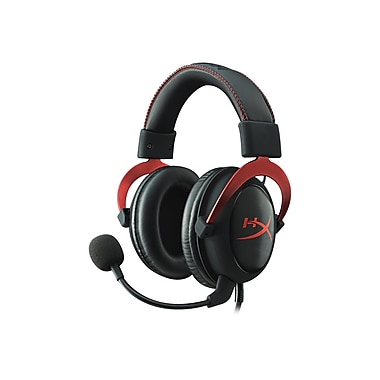 Kingston® KHX-HSCP-RD HyperX Cloud II Over-the-Head Gaming Headset