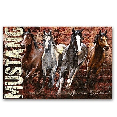American Expedition 'Mustang' Graphic Art on Wrapped Canvas