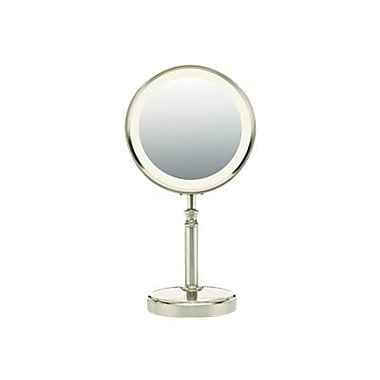 Conair Double-Sided Fluorescent Mirror, Satin Nickel (BE116T)