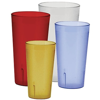 Winco 8oz Pebbled Tumblers (Set of 12); Red