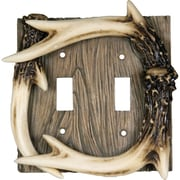 American Expedition Deer Antler Double Switch Cover