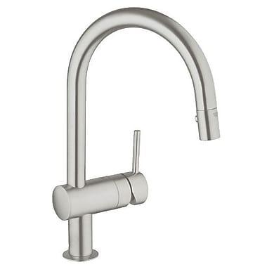 Grohe Minta Single Handle Single Hole Bathroom Faucet; Chrome