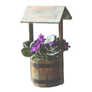 Quickway Imports Wood Pot Planter