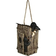 American Expedition Outhouse w/ Bears Decorative Bird Feeder