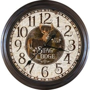 American Expedition 26'' Stag Lodge Clock