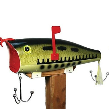 American Expedition Giant Bass Post Mounted Mailbox