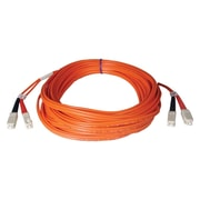 Tripp Lite N506-01M 1m SC/SC Male/Male 50/125 OM2 Duplex Multimode Fiber Optic Patch Cable, Orange