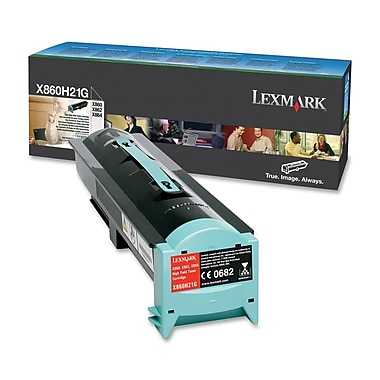 Lexmark Toner Cartridge, Laser, High Yield, Black, (X860H21G)