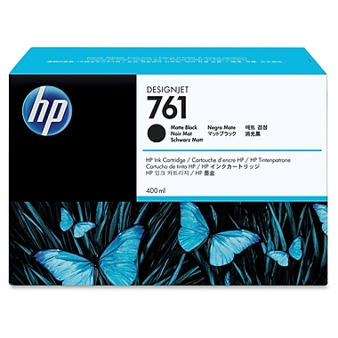HP 761 Ink Cartridge, Inkjet OEM, Black, (CM991A)