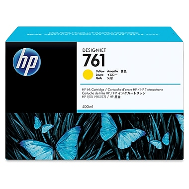 HP 761 Ink Cartridge, Inkjet OEM, Yellow, (CM992A)
