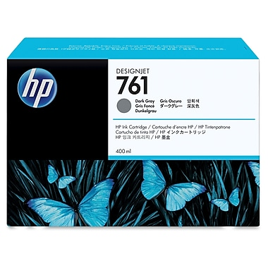 HP 761 Ink Cartridge, Inkjet, Dark Gray, (CM996A)