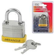 Merangue Laminated Steel Padlock, 6/Pack