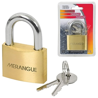 Merangue Solid Brass Padlock, 50mm, 6/Pack