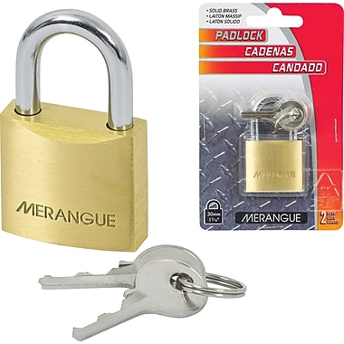 Merangue Solid Brass Padlock, 30mm, 6/Pack