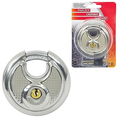 Merangue Stainless Steel Padlock, 6/Pack