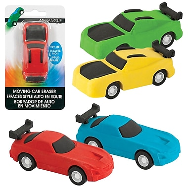 Merangue Motorized Car Eraser, 24/Pack
