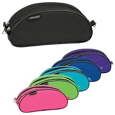 Merangue Dual Zipper Oblong Pencil Case, Assorted Colours, 12/Pack