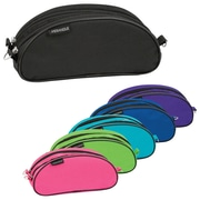 Merangue Dual Zipper Oblong Pencil Case, Assorted Colours, 12/Pack