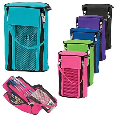 Merangue Dual Zipper Tote Pencil Cases, Assorted Colours, 12/Pack