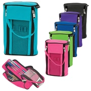 Merangue Dual Zipper Tote Pencil Cases, Assorted Colours, 12/Pack