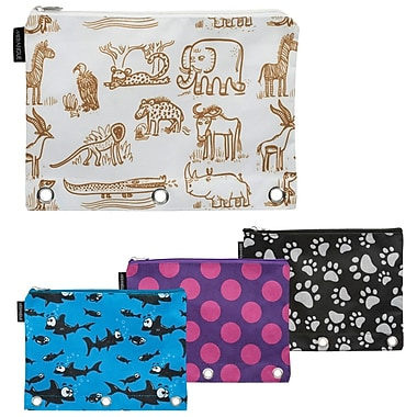 Merangue 3 Ring Binder Pouch, Patterned, 12/Pack