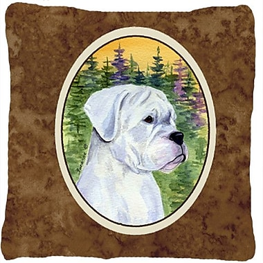 Caroline's Treasures Boxer Indoor/Outdoor Throw Pillow