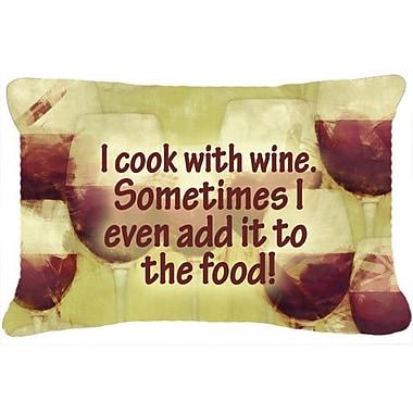 Caroline's Treasures I Cook w/ Wine Indoor/Outdoor Throw Pillow