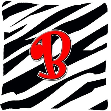 Caroline's Treasures Monogram Initial Zebra Indoor/Outdoor Throw Pillow; B