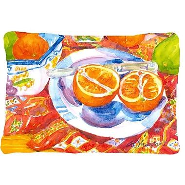 Caroline's Treasures Florida Oranges Sliced for Breakfast Indoor/Outdoor Throw Pillow