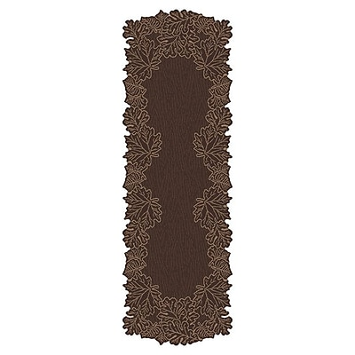 Heritage Lace Leaf Table Runner; Earth