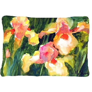 Caroline's Treasures Iris Indoor/Outdoor Throw Pillow