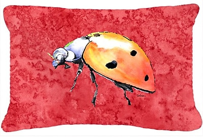 Caroline's Treasures Lady Bug Indoor/Outdoor Throw Pillow
