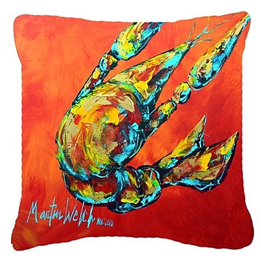Caroline's Treasures Crawfish Spicy Craw Indoor/Outdoor Throw Pillow; 14'' H x 14'' W x 4'' D