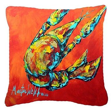 Caroline's Treasures Crawfish Spicy Craw Indoor/Outdoor Throw Pillow; 18'' H x 18'' W x 5.5'' D