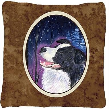 Caroline's Treasures Starry Night Border Collie Indoor/Outdoor Throw Pillow