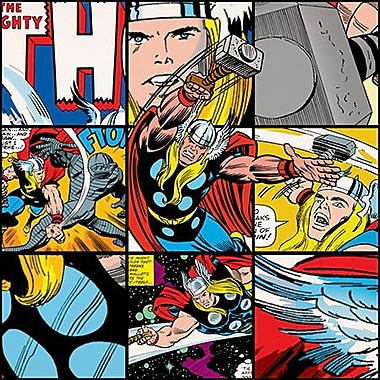 iCanvas Marvel Comics Thor Collage Graphic Art on Canvas; 26'' H x 26'' W x 1.5'' D