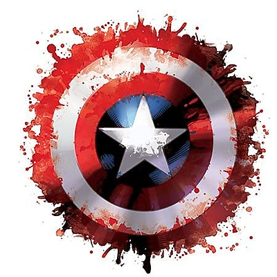 iCanvas Marvel Comics Captain America Shield Graphic Art on Canvas; 26'' H x 26'' W x 0.75'' D