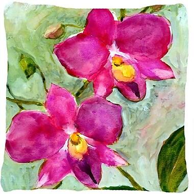 Caroline's Treasures Orchid Indoor/Outdoor Throw Pillow