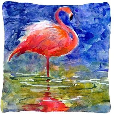 Caroline's Treasures Flamingo Indoor/Outdoor Throw Pillow
