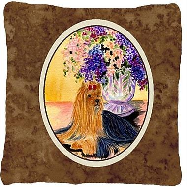Caroline's Treasures Yorkie Indoor/Outdoor Throw Pillow