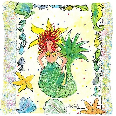 Caroline's Treasures Mermaid Indoor/Outdoor Throw Pillow