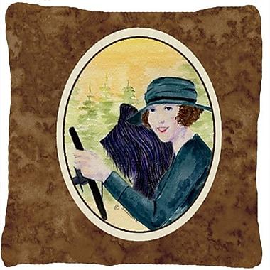 Caroline's Treasures Lady Driving w/ Her Briard Indoor/Outdoor Throw Pillow