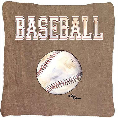 Caroline's Treasures Baseball Indoor/Outdoor Throw Pillow