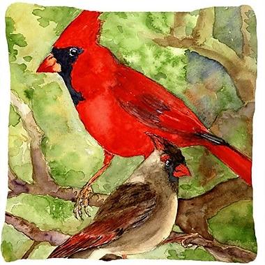 Caroline's Treasures Northern Cardinal Indoor/Outdoor Throw Pillow