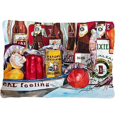 Caroline's Treasures Veron's and New Orleans Beers Indoor/Outdoor Throw Pillow