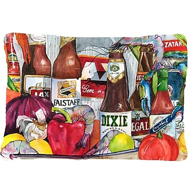 Caroline's Treasures New Orleans Beers and Spices Indoor/Outdoor Throw Pillow